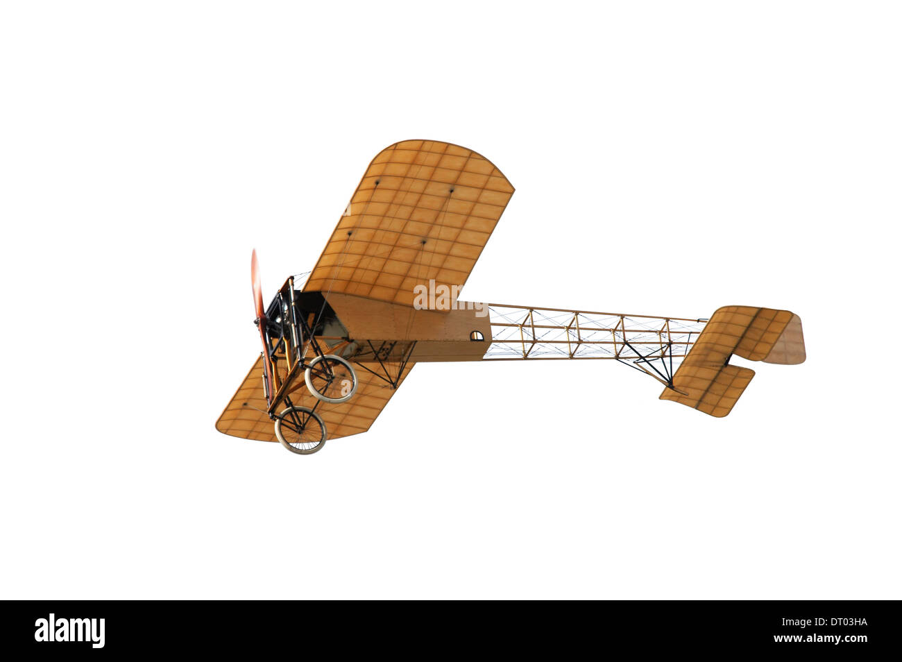 Cutout of Vintage Bleriot XI ( 1909 ) - Stock Image