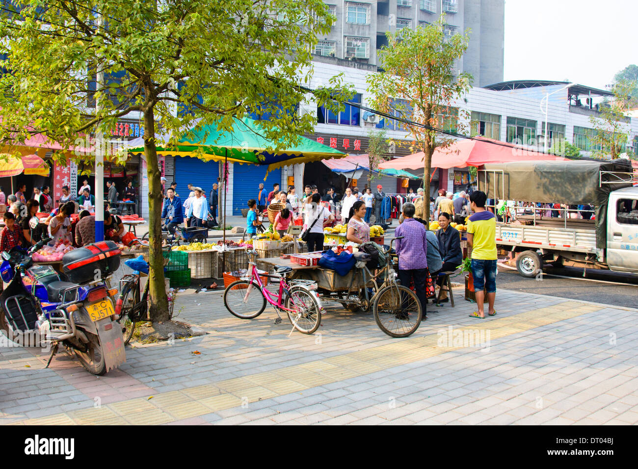 China, Xian, outdoor street market - Stock Image