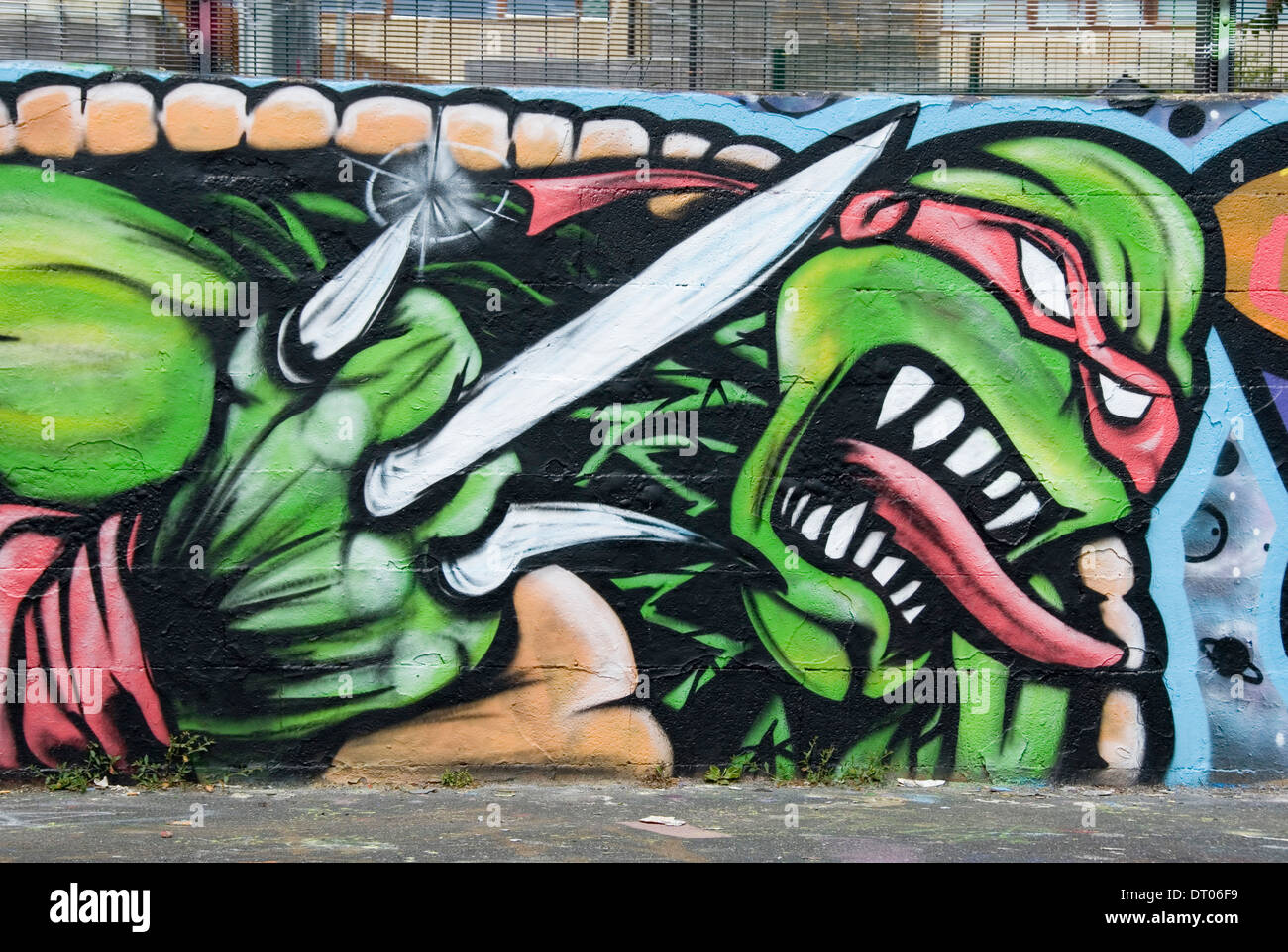 Mutant ninja turtle graffiti words