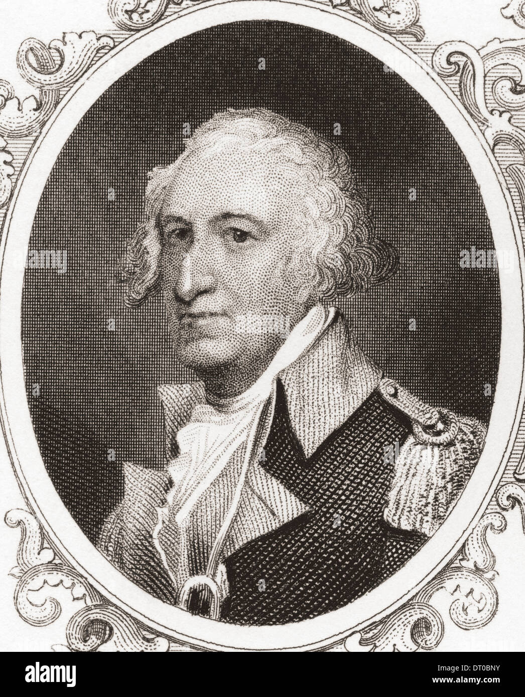 Horatio Lloyd Gates, 1727 – 1806. Retired British soldier who served as an American general during the Revolutionary War. - Stock Image