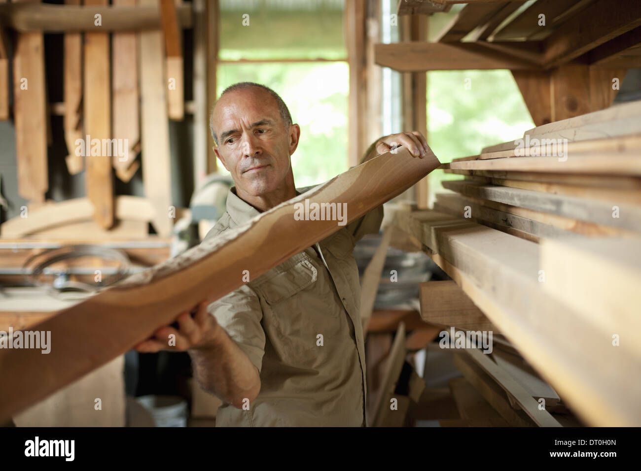 Woodstock New York USA construction site rural setting New York State USA - Stock Image