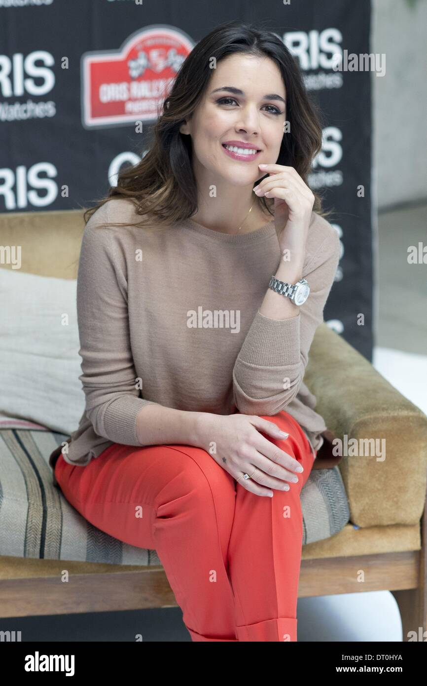 Madrid, Spain. 5th Feb, 2014. Actress Adriana Ugarte attends this morning to an act of signature watches ''Oris'' Stock Photo