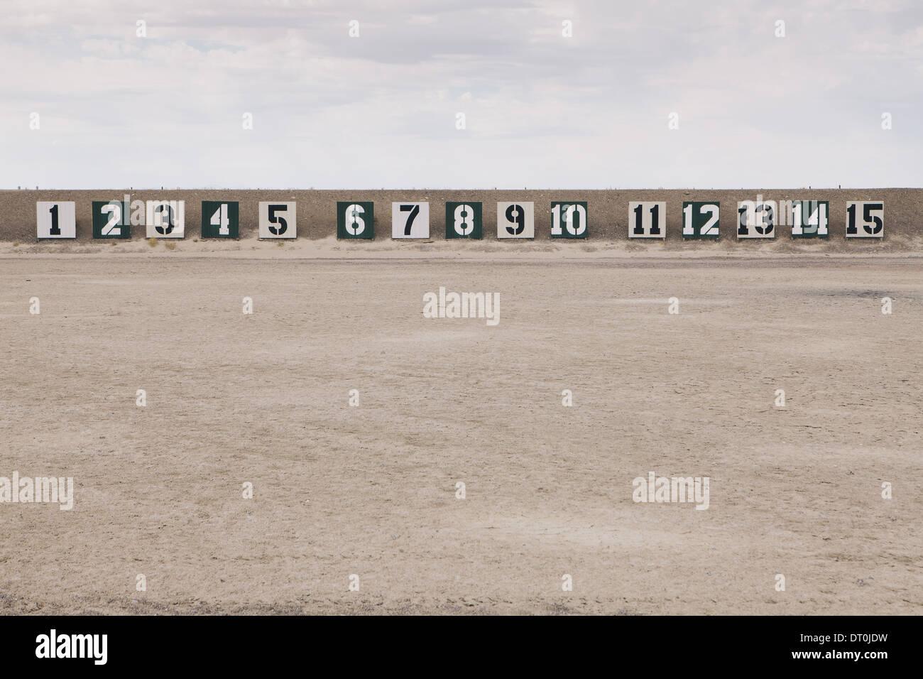 Nevada USA Firing range in desert in Elko County Nevada USA - Stock Image
