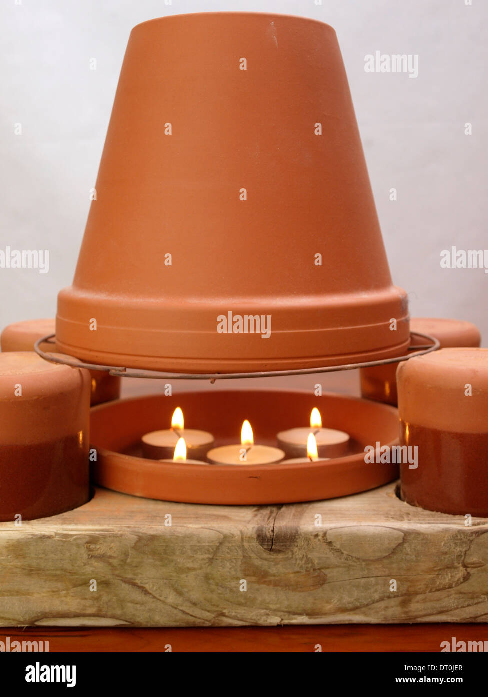 Alamy & Tea light candle and flower pot heater Stock Photo: 66397375 ...
