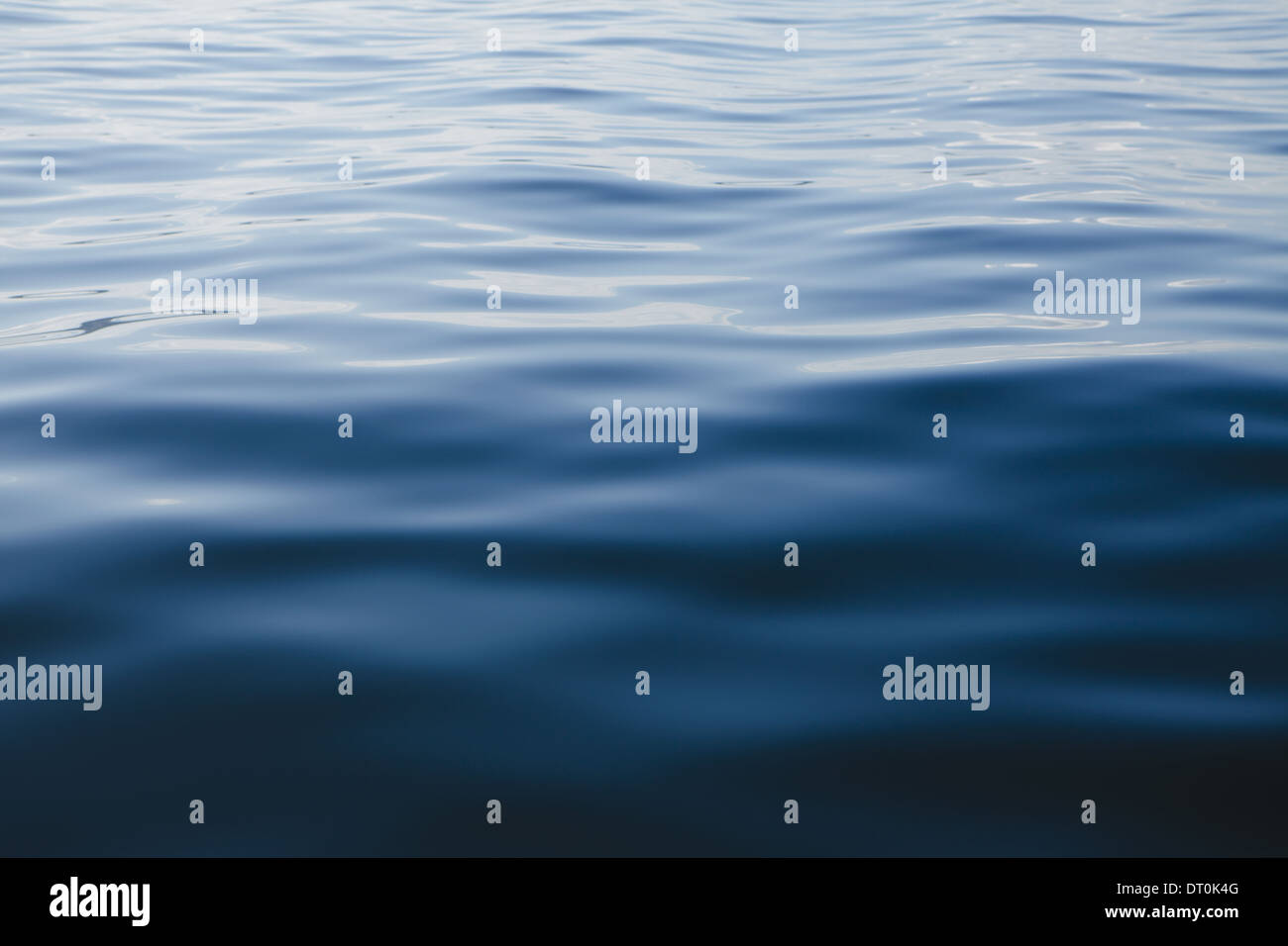Washington State USA Blue ocean water and reflections close up - Stock Image