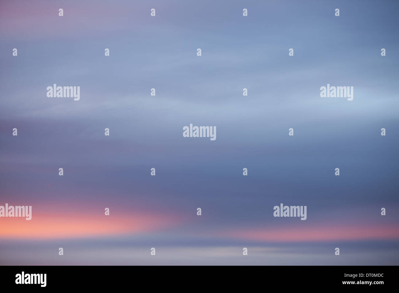 Seattle Washington USA Clouds in the sky at dusk - Stock Image