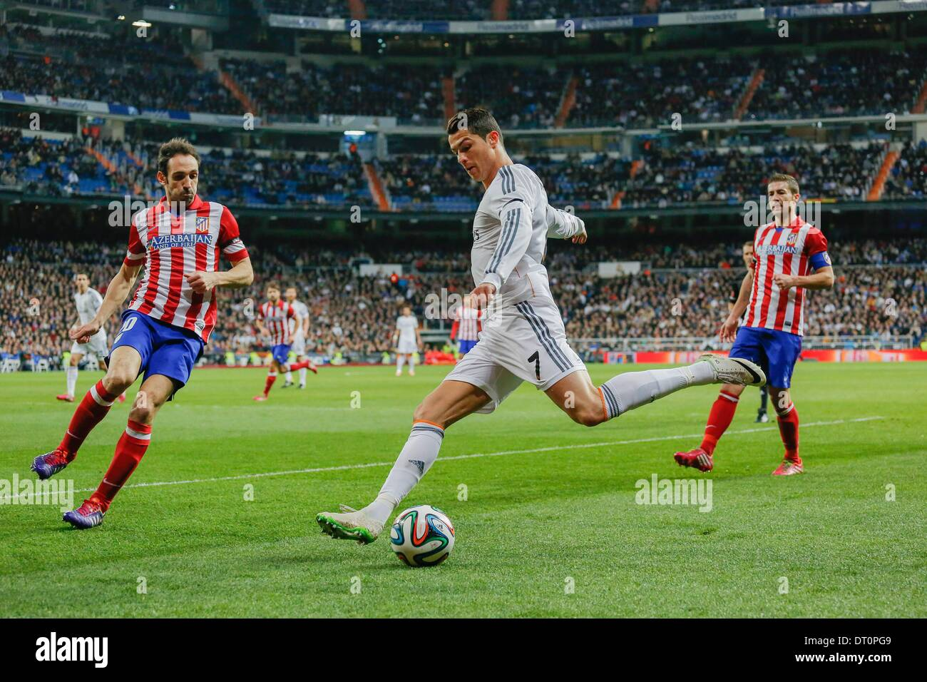 Madrid, Spain. 5th Feb, 2014. Cristiano Ronaldo (Real Madrid) during the Spanish King's Cup Semifinal, between Real Stock Photo