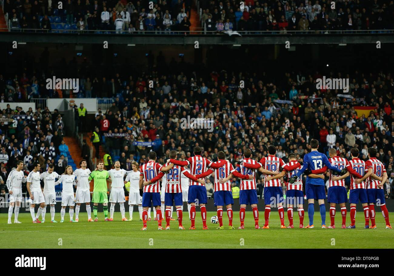 Madrid, Spain. 5th Feb, 2014. Real Madrid vs Atletico Madrid, Spanish King's Cup Semifinal 1st match on february Stock Photo