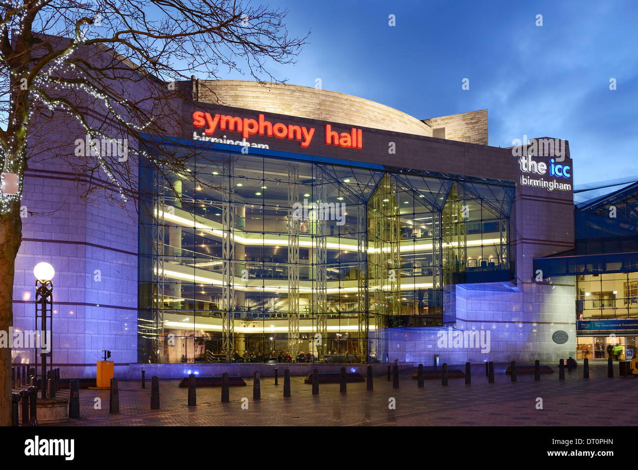 The Symphony Hall and ICC in Centenary Square Birmingham - Stock Image