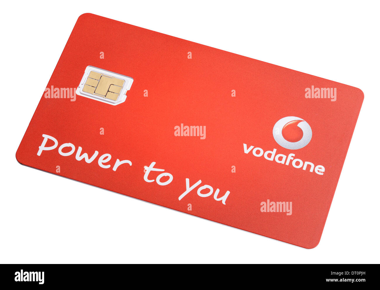 Vodafone nano sim card for a mobile phone - Stock Image