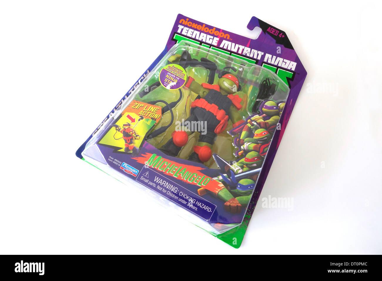 Nickelodeon Teenage Mutant Ninja Turtles Michelangelo Toy Action Figure - Stock Image