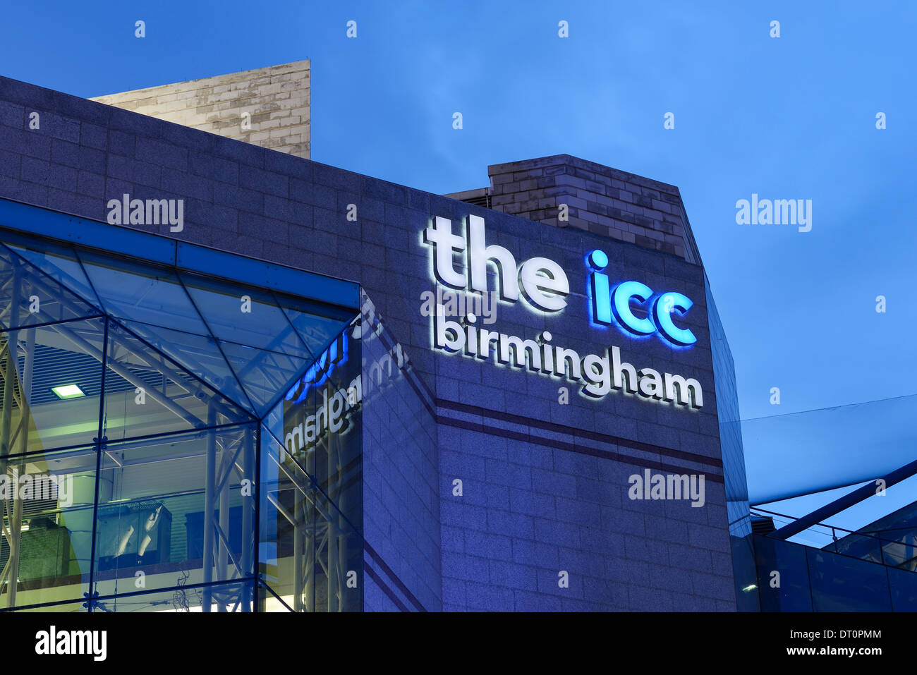 Detail of the icc building in Birmingham city centre - Stock Image