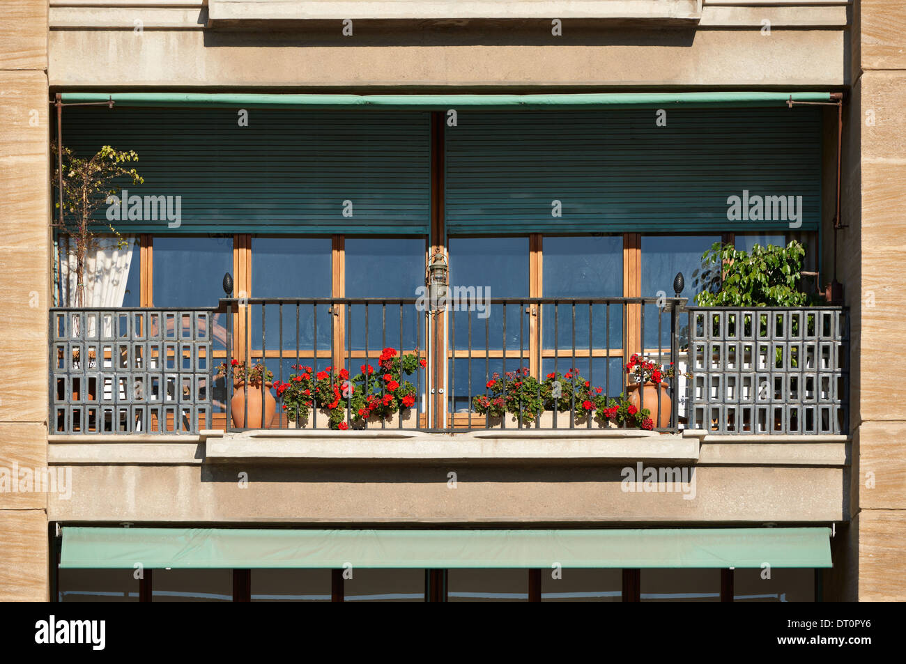 Architecture detail, classic balcony from South France, French Riviera - Stock Image