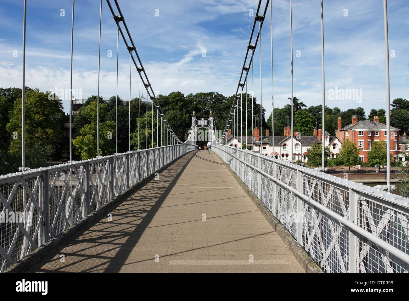 The Queens Park Bridge across the River Dee in Chester, England. Stock Photo