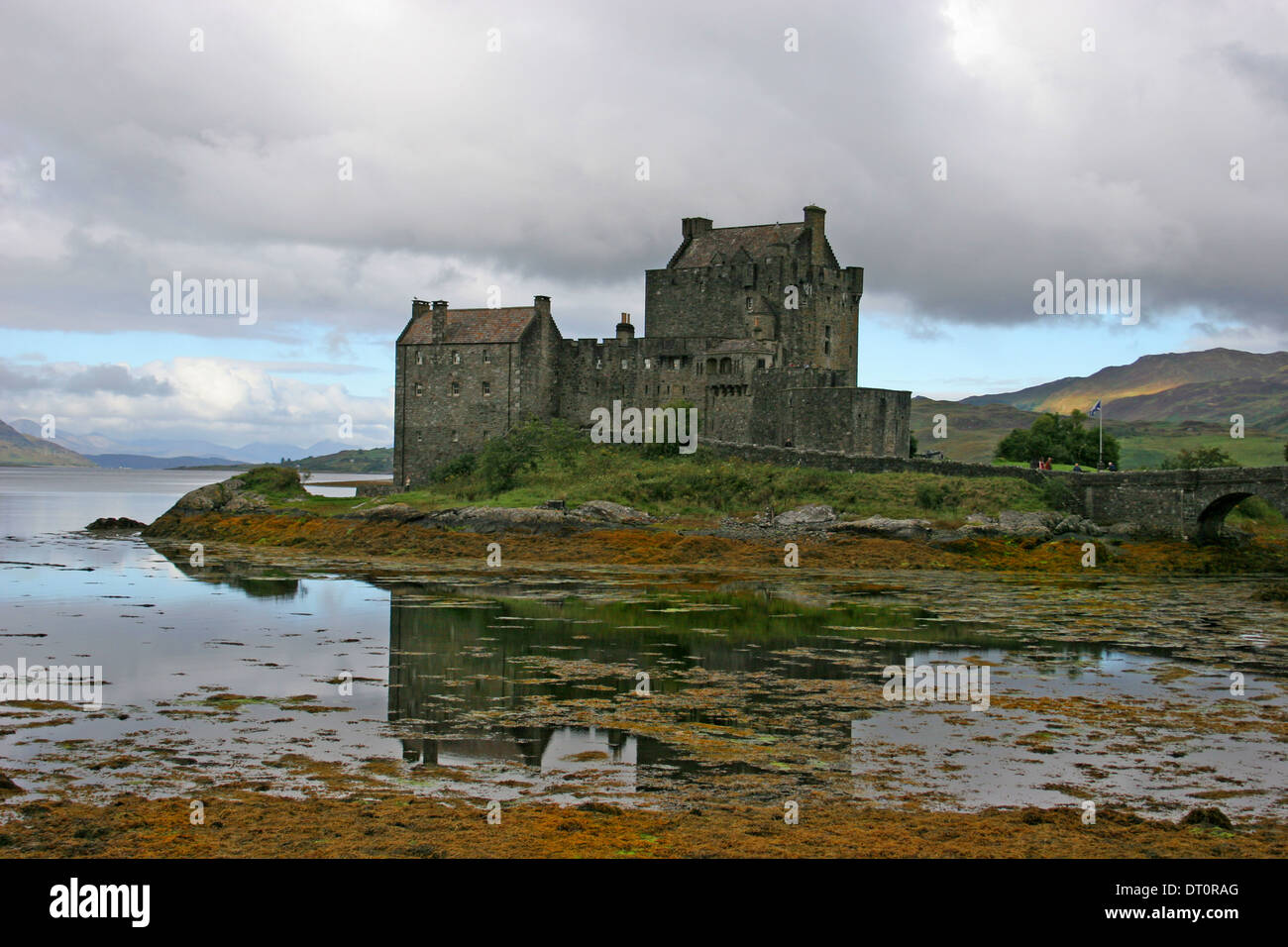 Eilean Donan Castle at Dornie, Kyle of Lochalsh, Braveheart Film Location, Western  Highlands of Scotland.UK - Stock Image