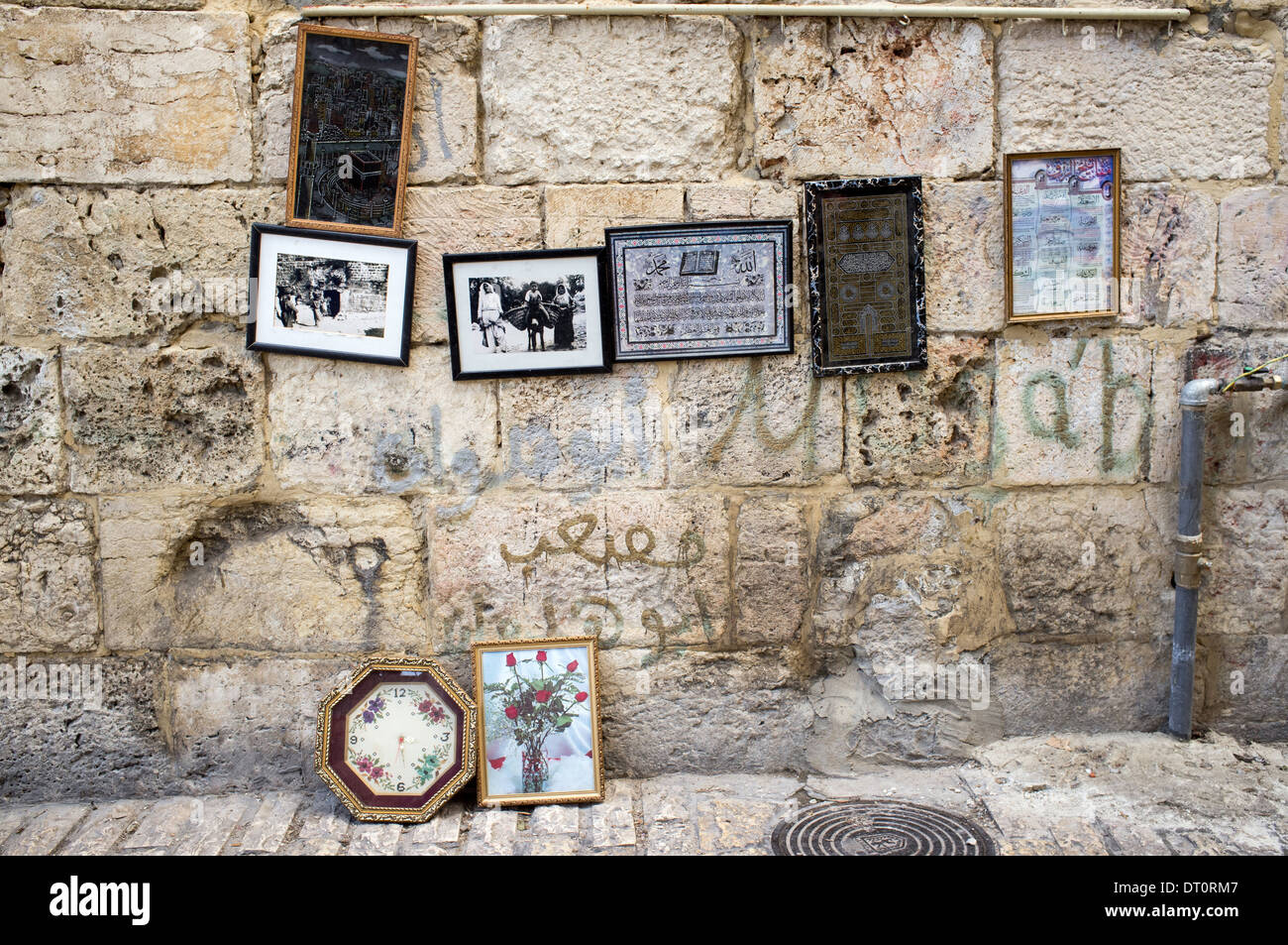 Still life with pictures and frames on sale on Wall in the Old City ...
