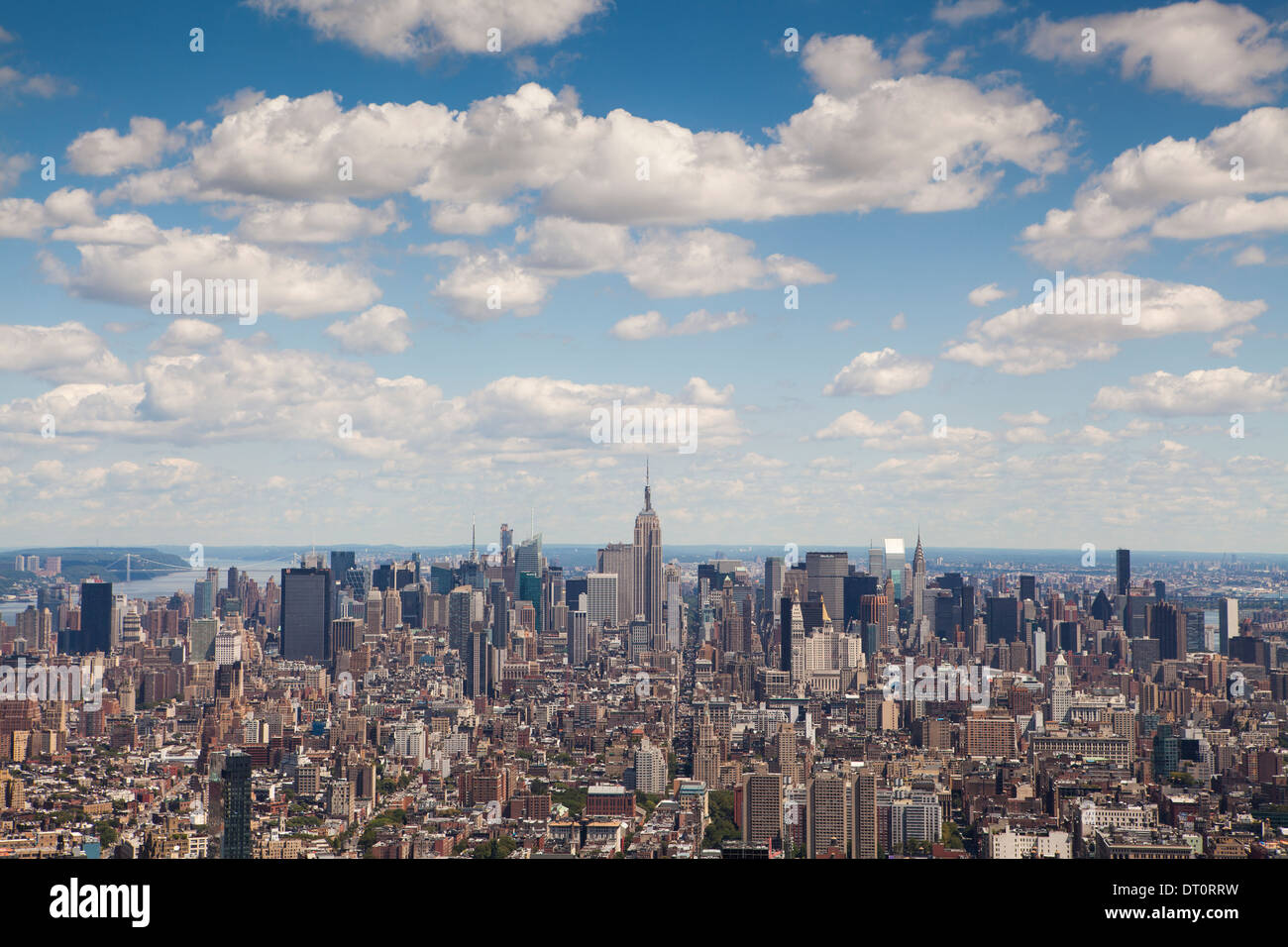 View of New York City looking north from 4 World Trade Center - Stock Image