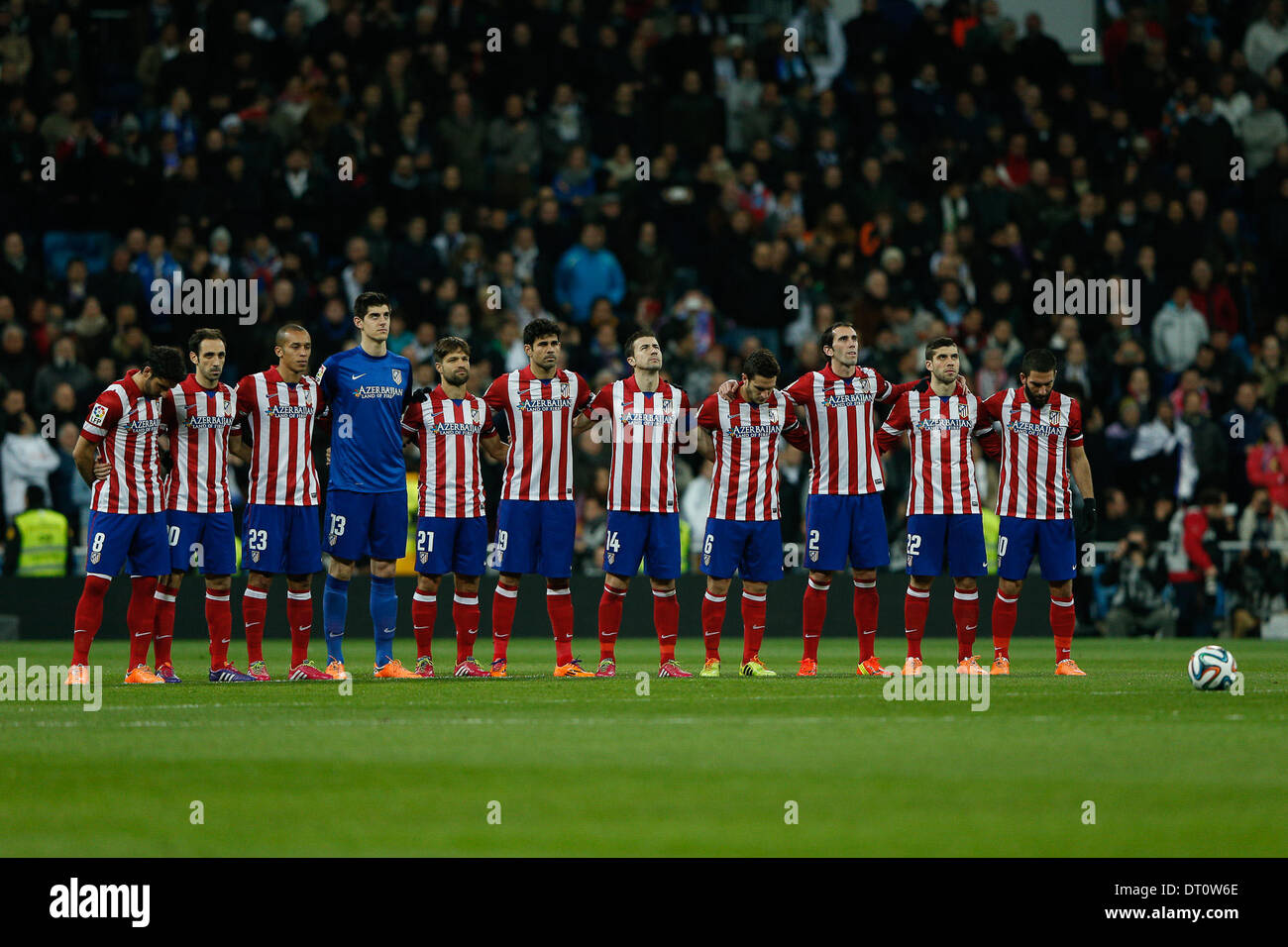 Madrid, Spain. 05th Feb, 2014. Copa del Rey first leg match Real Madrid CF versus Atletico de Madrid match at the Santiago Bernabeu Stadium. The picture show Credit:  Action Plus Sports/Alamy Live News - Stock Image