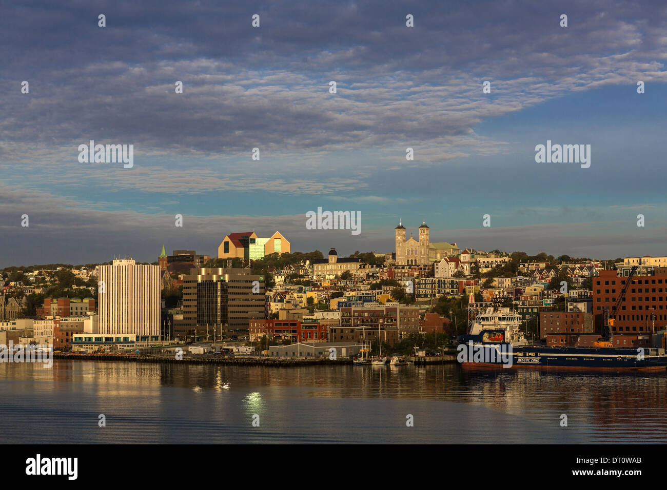Waterfront view of St John's Newfoundland Canada Stock Photo