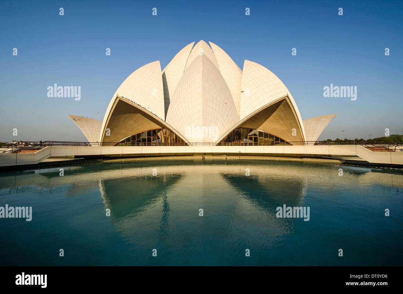Lotus temple New Delhi - Stock Image