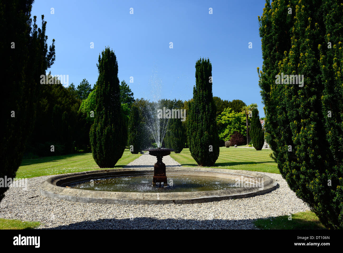 gardens of huntington castle clonegal carlow Fellowship of Isis plantation castle - Stock Image