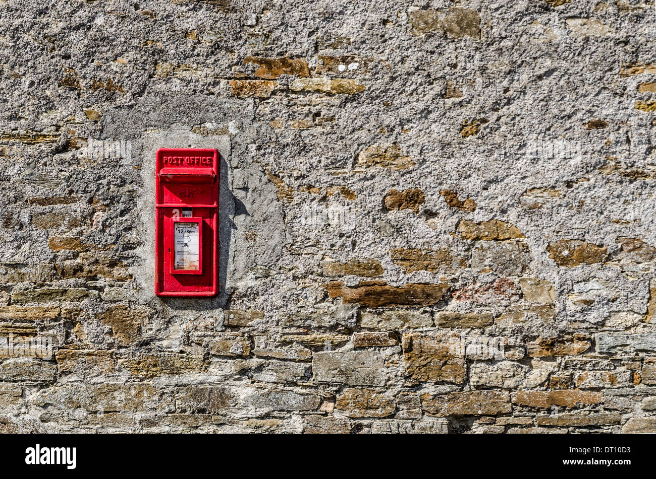Red postbox - Stock Image