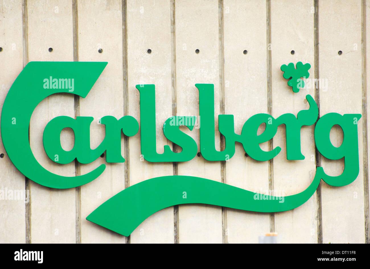 Carlsberg factory sign - Stock Image