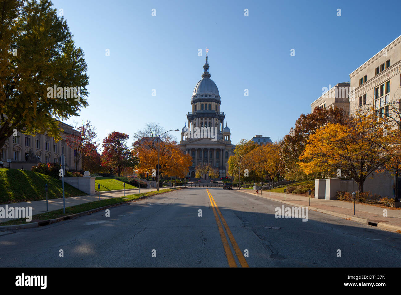 The Illinois Capitol Building in Springfield, IL. - Stock Image