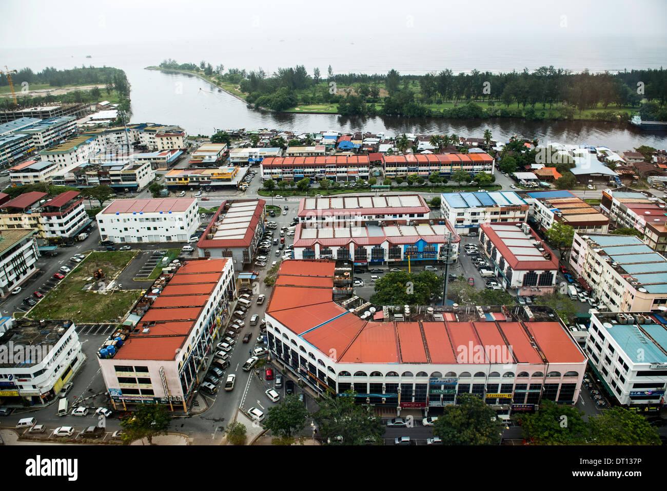 A view of Miri, Sarawak. - Stock Image