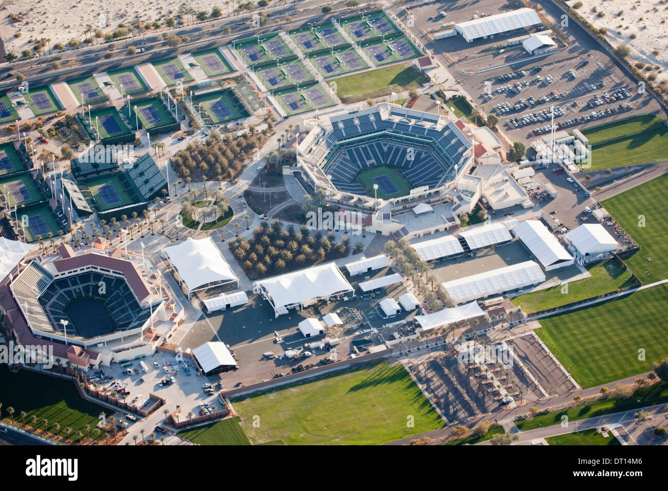 aerial view of the updated and expanded indian wells tennis gardens idian wells california - Indian Wells Tennis Garden