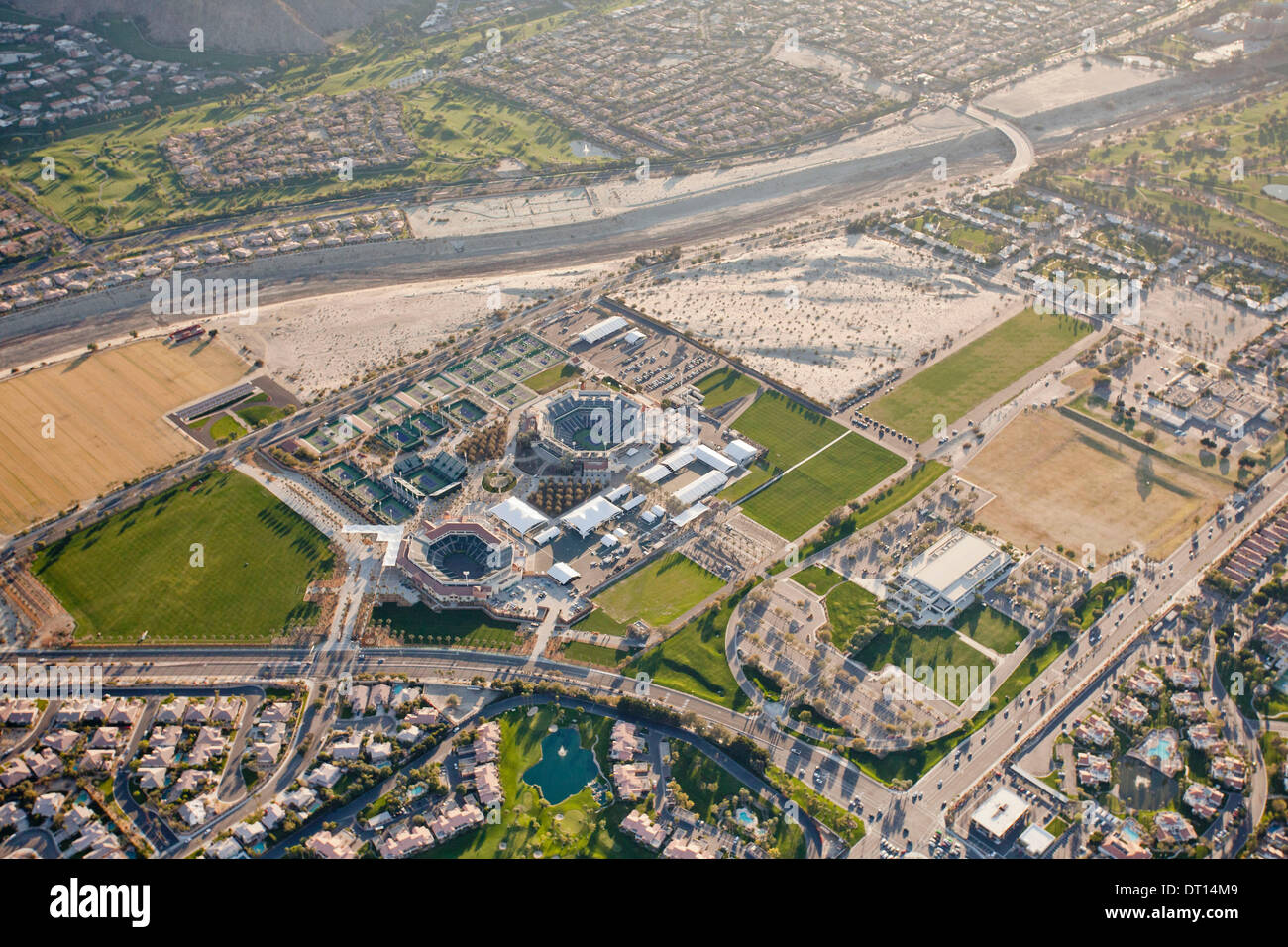 Aerial View Of The Updated And Expanded INDIAN WELLS TENNIS GARDENS, Idian  Wells, California, USA