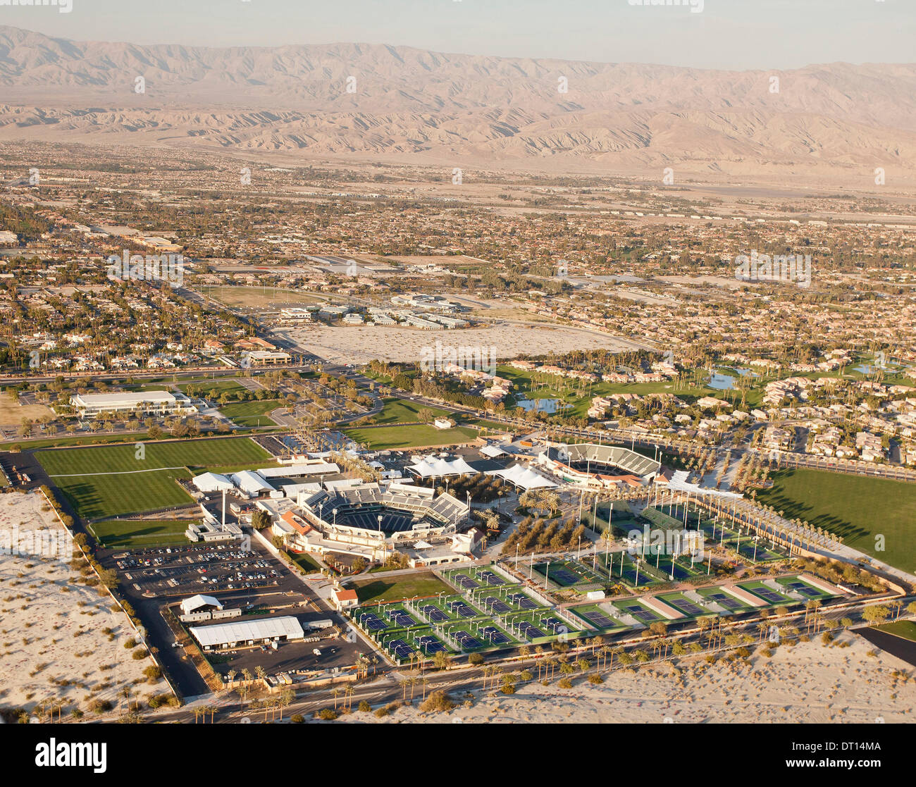 aerial view of the updated and expanded indian wells tennis gardens idian wells california usa - Indian Wells Tennis Garden