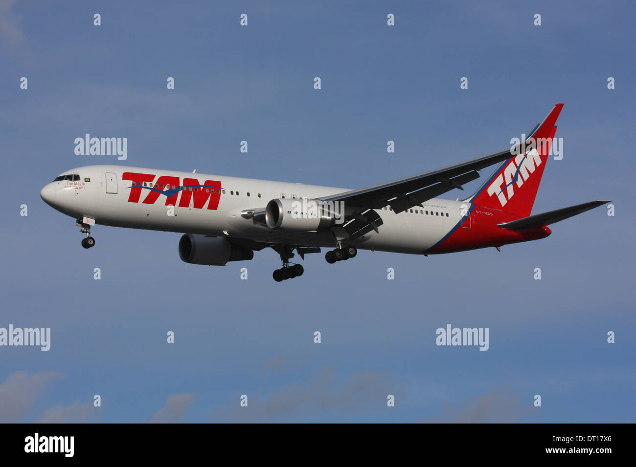 TAM BRASIL AIRLINES BOEING 767 - Stock Image