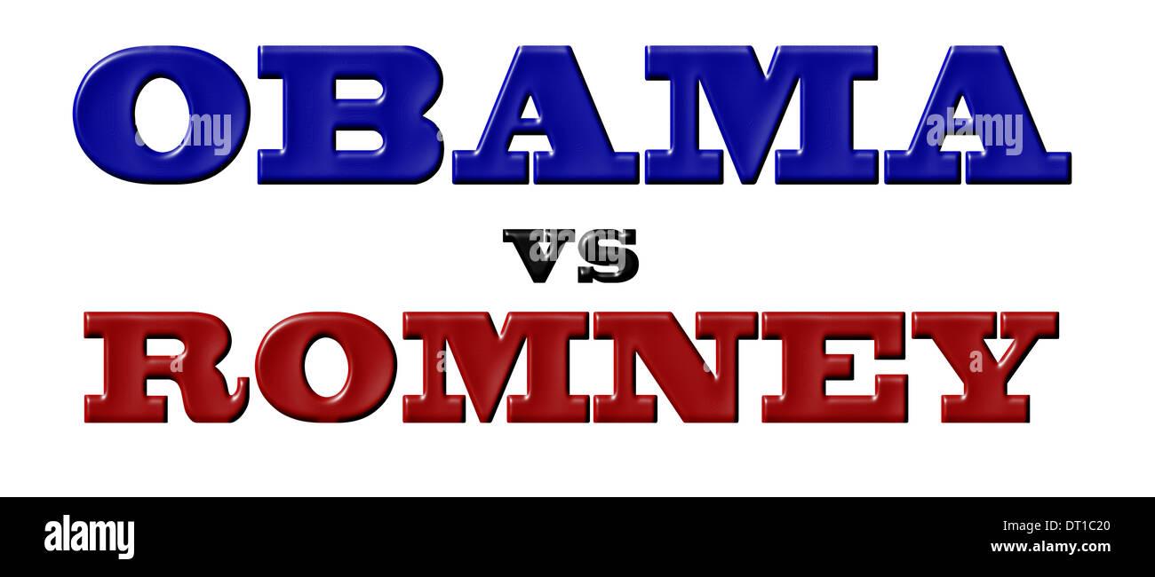 Obama vs Romney Stock Photo
