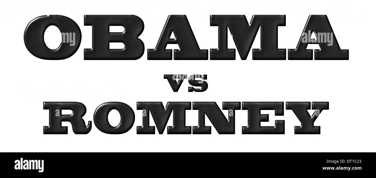 Obama vs Romney - Stock Image