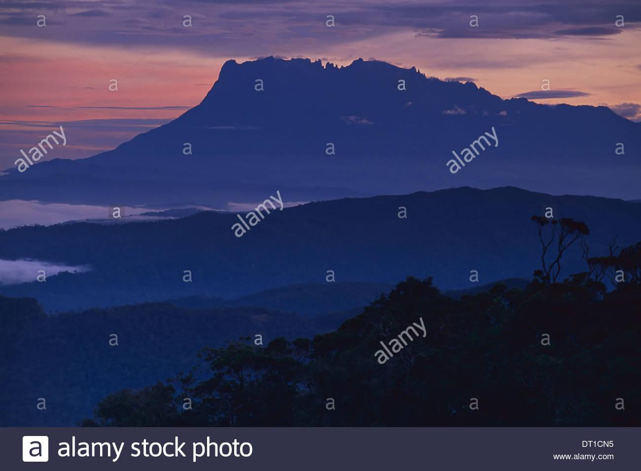 Mt Kinabalu National Park Sabah Borneo Mount Kinabalu at dawn Sabah Borneo - Stock Image