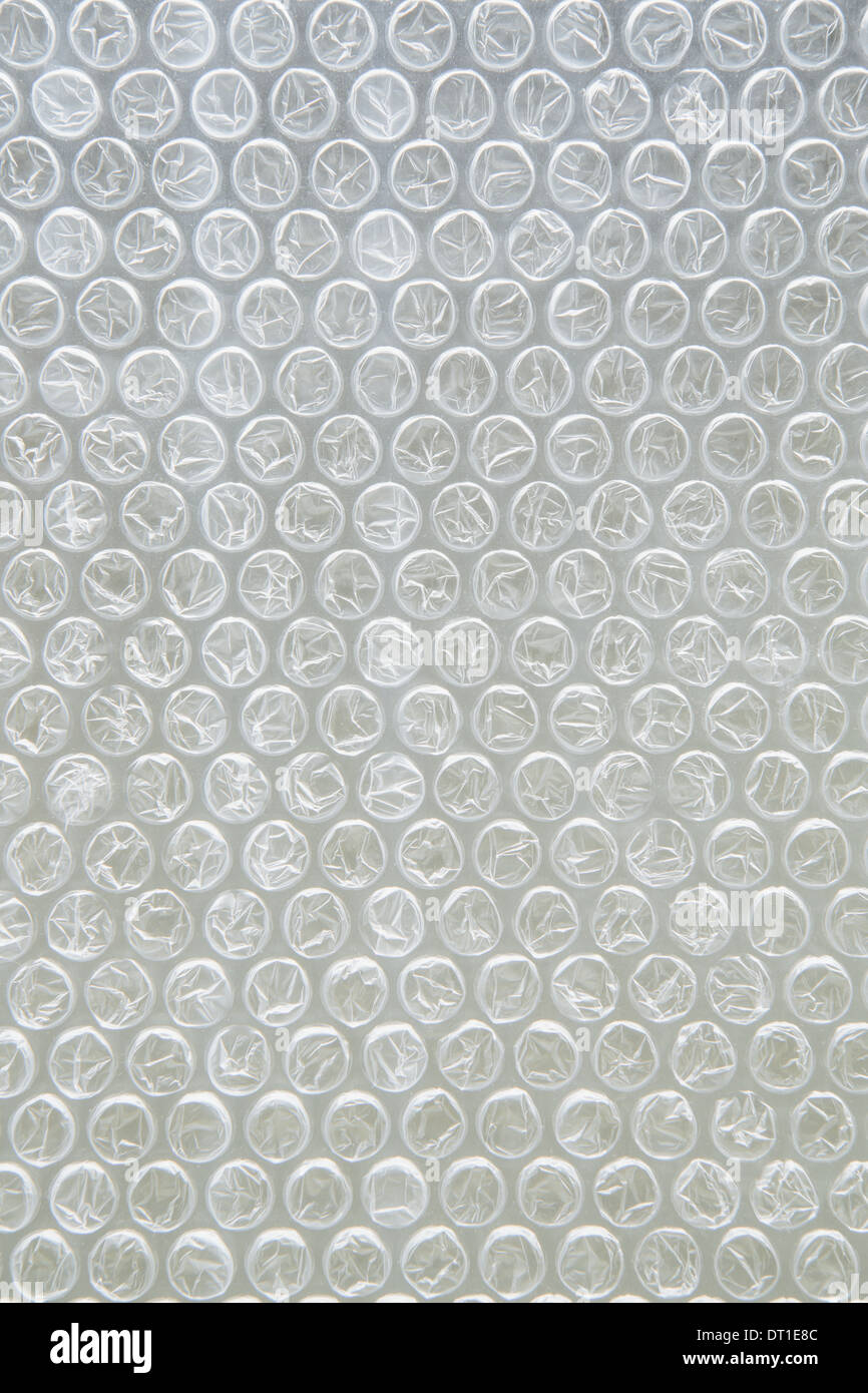 Close up of bubble wrap used for packaging - Stock Image