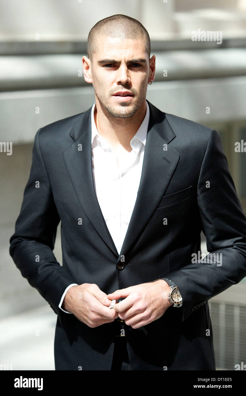 Professional football player Victor Valdes - Stock Image