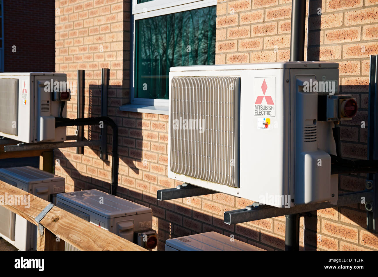 Air conditioning units England UK United Kingdom GB Great Britain - Stock Image