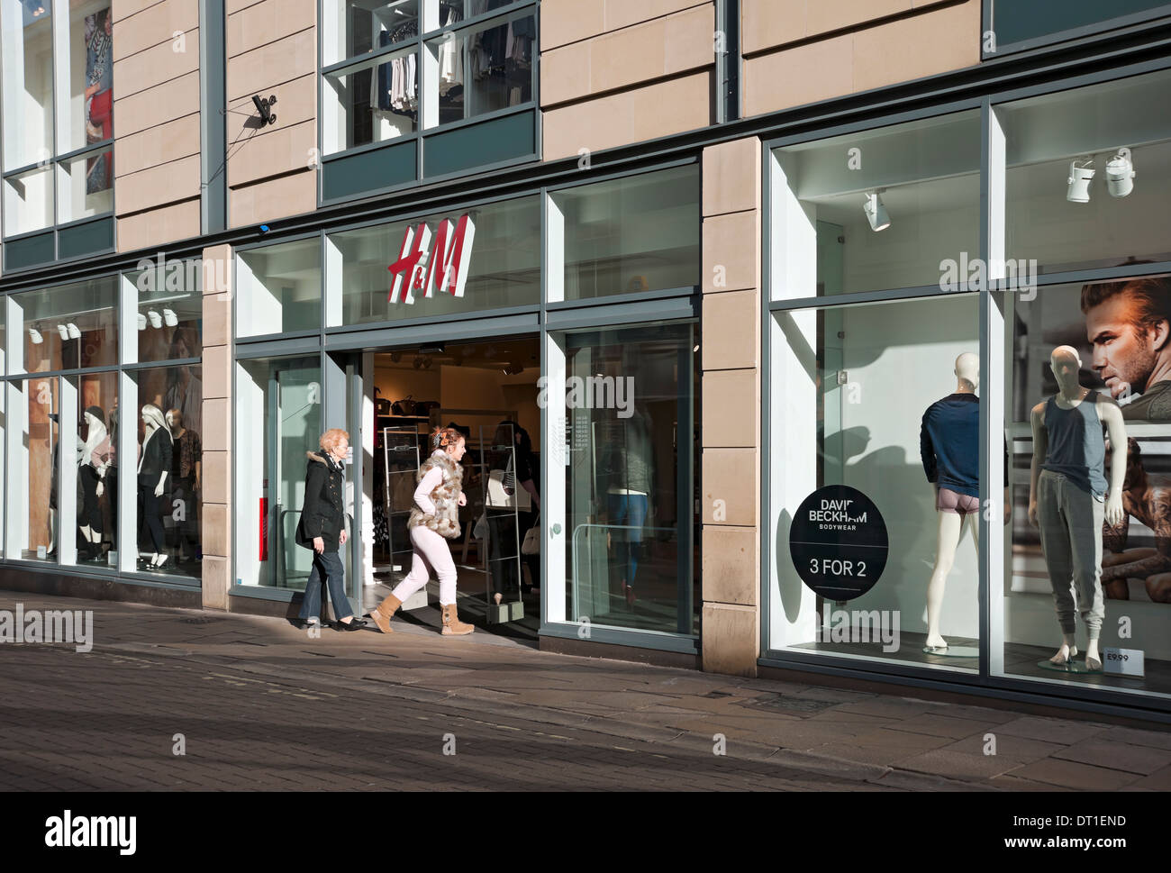 H&M shop York North Yorkshire England UK United Kingdom GB Great Britain - Stock Image