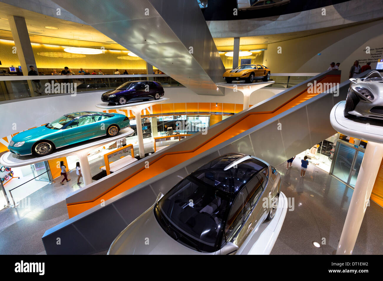 Mercedes-Benz concept cars in their museum gallery in Stuttgart, Bavaria, Germany - Stock Image