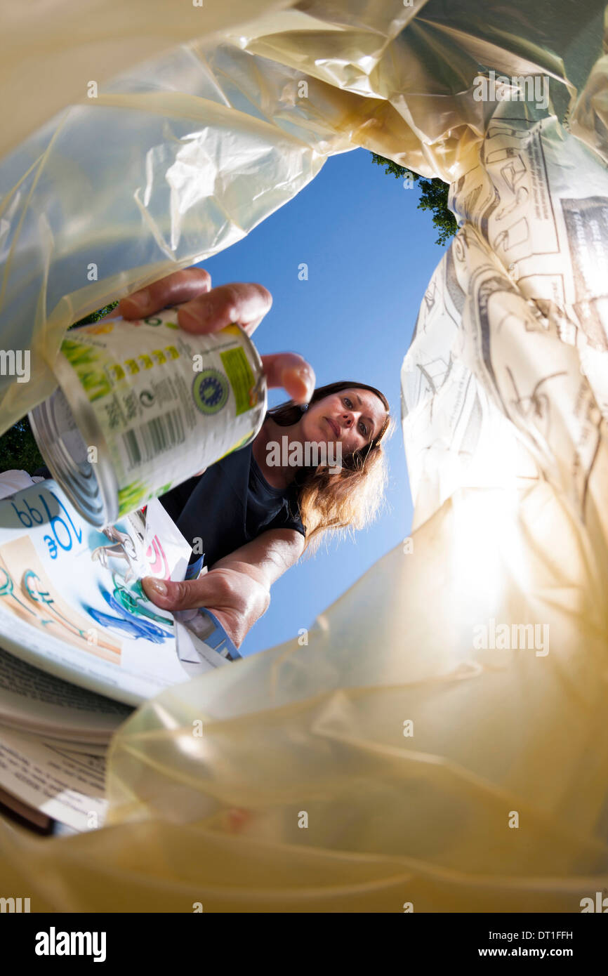 Household waste sorting - Stock Image