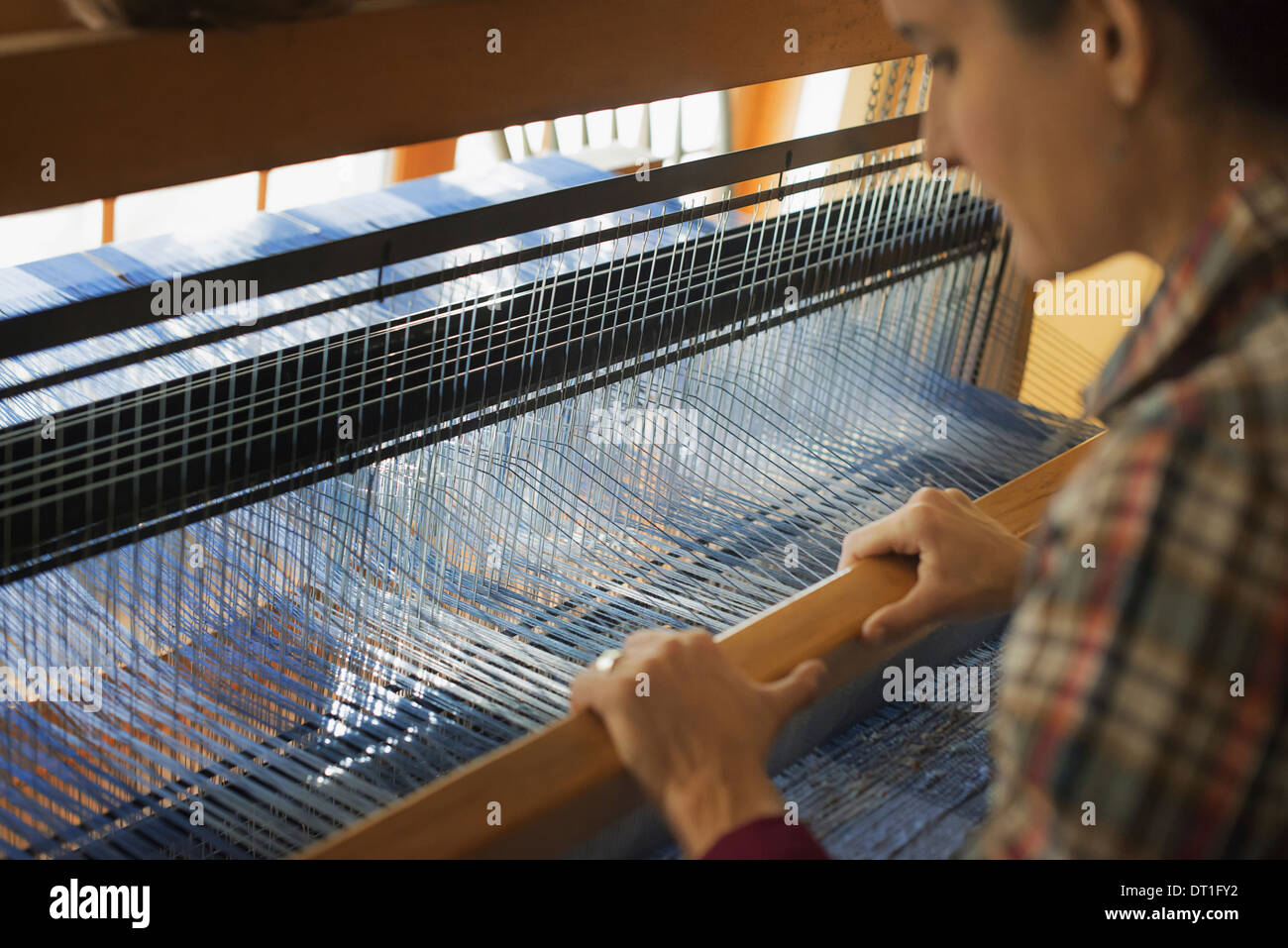 Handloom Weaving Stock Photos & Handloom Weaving Stock