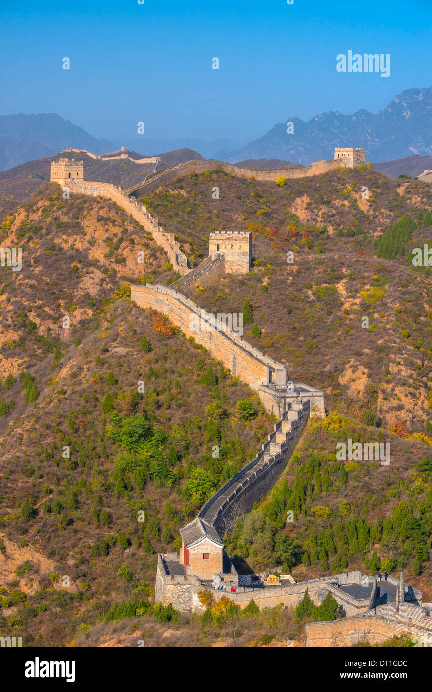 Great Wall of China, UNESCO World Heritage Site, dating from Ming Dynasty, Jinshanling, Luanping County, Hebei Province, China - Stock Image