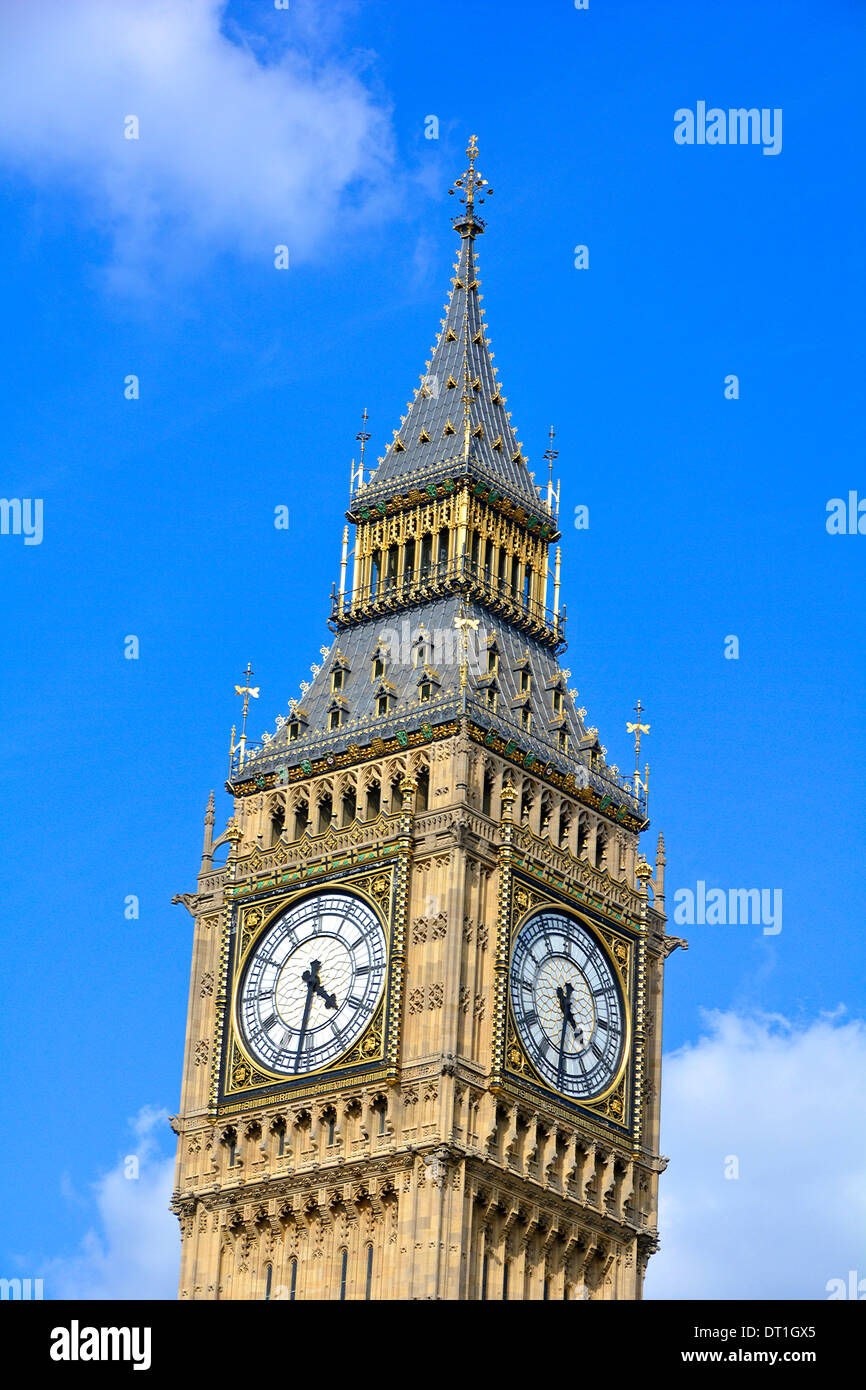 Close up of Big Ben clock tower now officially Elizabeth Tower Stock Photo