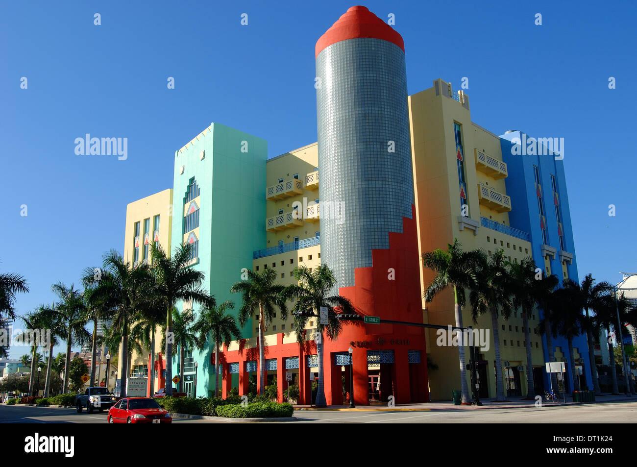 Miami Art Deco District, South Beach, Miami, Florida, United States of America, North America - Stock Image
