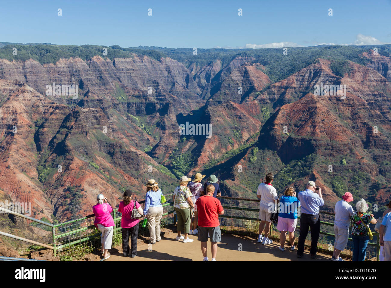 Waimea Canyon, Kauai, Hawaii, United States of America, Pacific - Stock Image