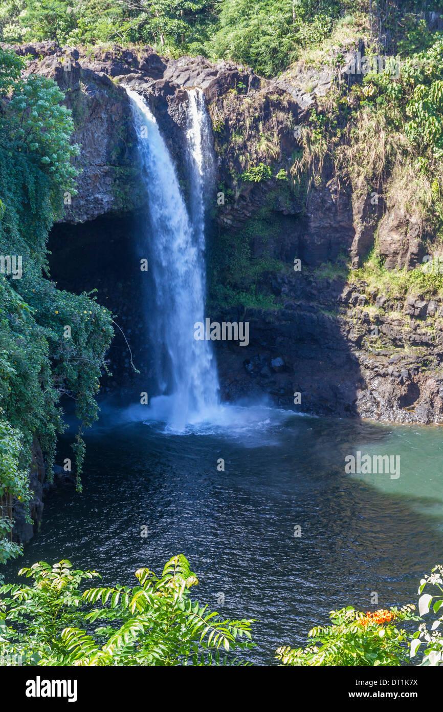 Rainbow Falls, Hilo, Hawaii island (Big Island), Hawaii, United States of America, Pacific - Stock Image