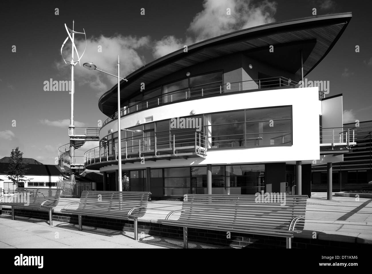 The New Boat House Centre Wisbech town Fenland Cambridgeshire County England Britain UK - Stock Image