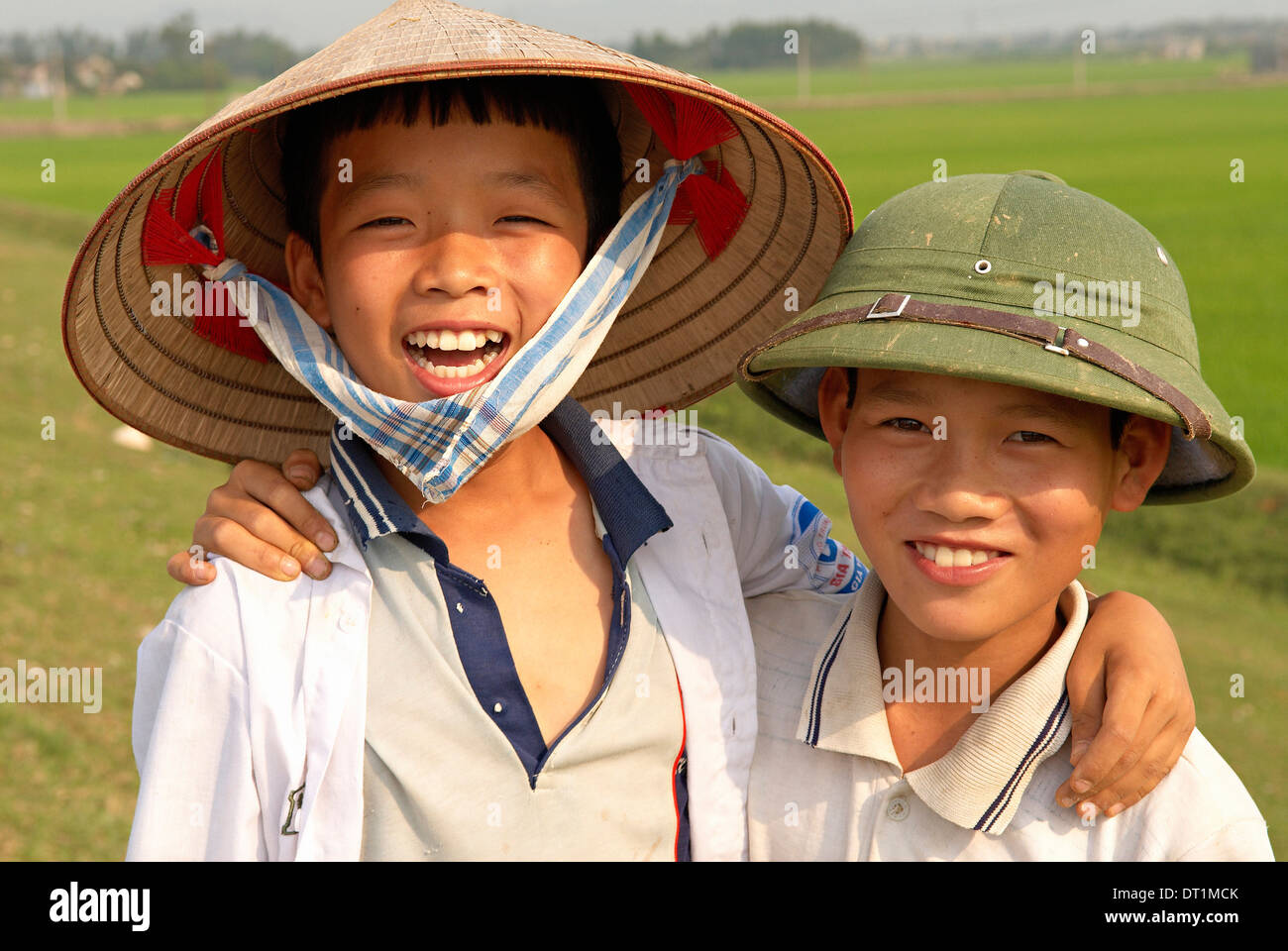Kenh Ga, Ninh Binh area, Vietnam, Indochina, Southeast Asia, Asia - Stock Image